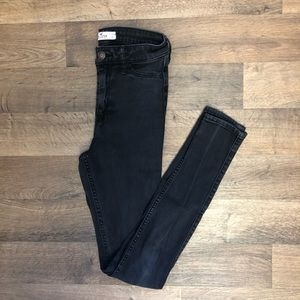 Black Hollister High Waisted Skinny Jeans